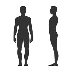 Male full length black silhouette