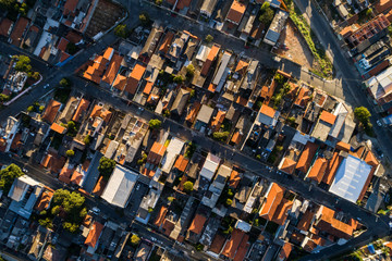 Aerial view of Itaquera in Sao Paulo, Brazil