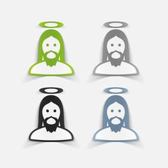 realistic design element: jesus