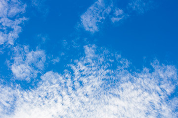 Blue sky and white cloudy for background.