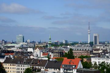 Ausblick über Hamburg aus dem Geschäftshaus Steindamm 94