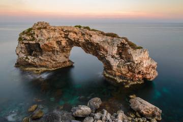 Es Pontas natural rock arch, Majorca, Spain