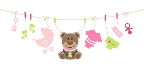 Girl Baby Symbols Teddy