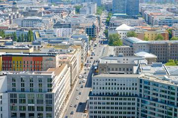 Aerial view of Berlin city, the Leipziger Strasse / Potsdamer Platz