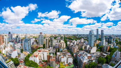 Printed kitchen splashbacks Buenos Aires View of the skyline of Buenos Aires on a sunny day