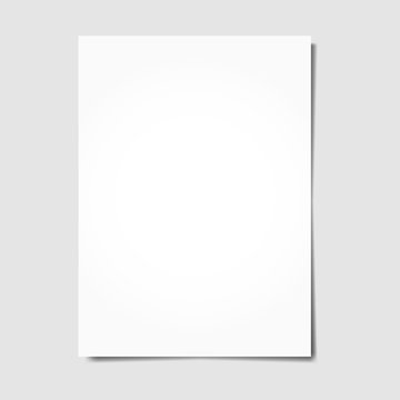 White sheet of paper. Stock vector