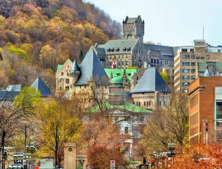 McGill University, McTavish reservoir and Royal Victoria Hospital in Montreal - Canada
