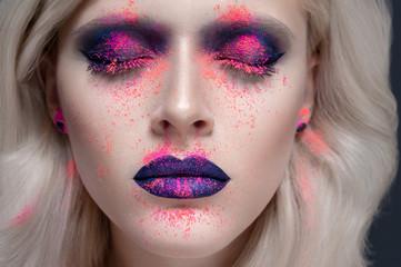 Closeup beauty studio portrait