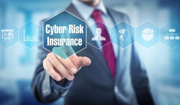 Cyber Risk Insurance / Businessman