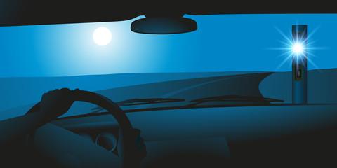 voiture - radar - vitesse - flash - sécurité routière - contrôle routier - limitation de vitesse