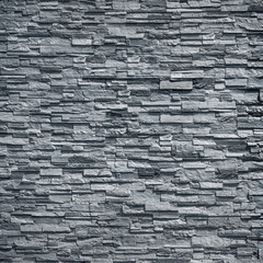 pattern of decorative black slate stone wall surface / black stone