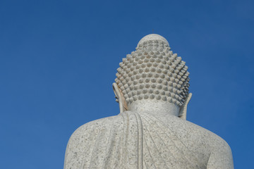 back of big buddha statue in Phuket province Thailand.