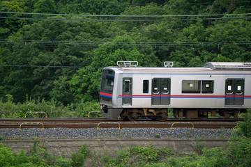 山間部 電車