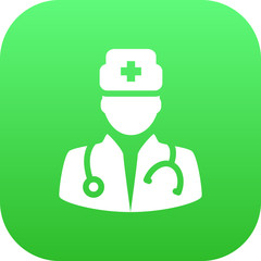 Isolated Doctor Icon Symbol On Clean Background. Vector Medic  Element In Trendy Style.