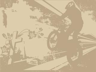 Wall Mural - Motobiker