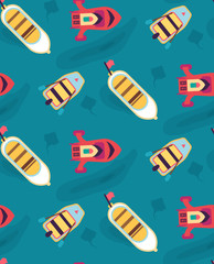 Boats, yachts on the sea on a cruise. Seamless pattern. Texture for scrapbooking, wrapping paper, textiles, web page, wallpapers, surface design, fashion