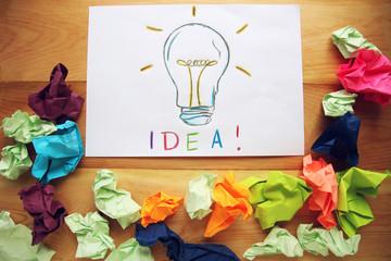 The best idea.Creative ideas