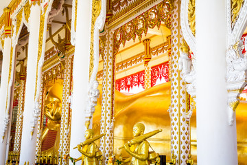 Beautiful Temple  At Wat Lat Prakong Tham ,Nonthaburi in Thailand