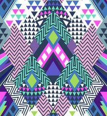 abstract geo shapes in zigzag design - seamless background