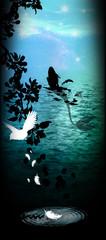 The power of nature - mermaid silhouette art photo manipulation