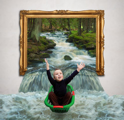 child in gallery