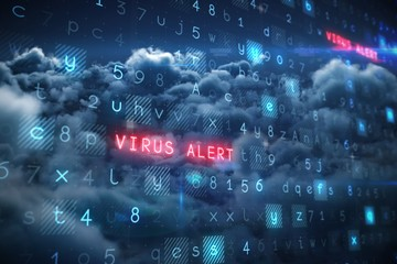 Composite image of virus background