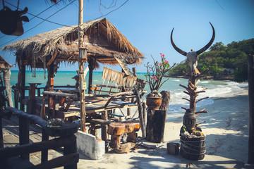 restaurant on the seashore