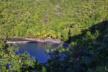 Anse Noire in Martinique, landscape of Les Anses d Arlet, France, Lesser Antilles