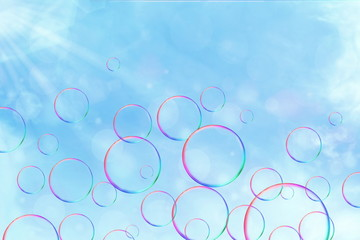 bubbles in sky background