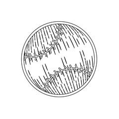 baseball ball icon over white background vector illustration