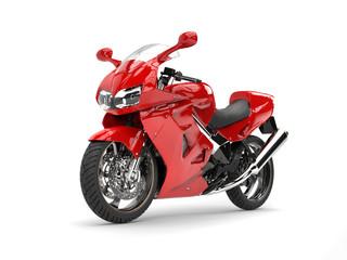 Modern red sports bike