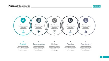 Circle Process Chart Slide Template