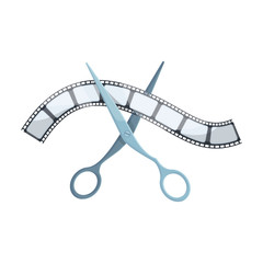 Installation of film.Making moviesingle icon in cartoon style vector symbol stock illustration web.