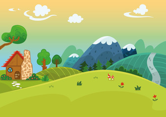 For General Use Cartoon Landscape (Vector illustration)