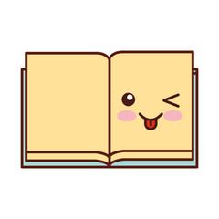 text book kawaii character vector illustration design