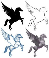 Pegasus Horse With Wings Vector