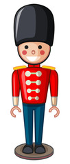 Plastic soldier toy in uniform