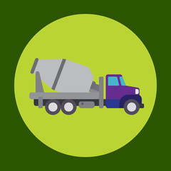 Cement truck icon in trendy flat style isolated on grey background. Construction symbol for your design, logo, UI. Vector illustration, EPS10.