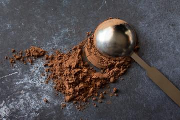 A tablespoon of cocoa powder