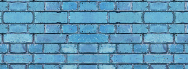 cover  texture old blue cracked brickwork