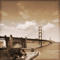 San Francisco - Golden gate (Old photo effect)
