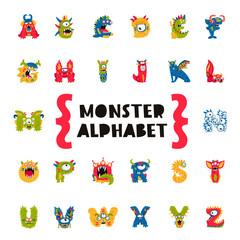 Monster Alphabet. Concept of the primer