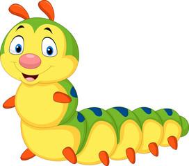 Cartoon caterpillar isolated on white background