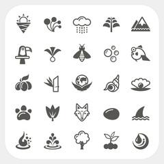 Nature icons set