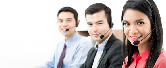 Call center (telemarketer or customer service) team