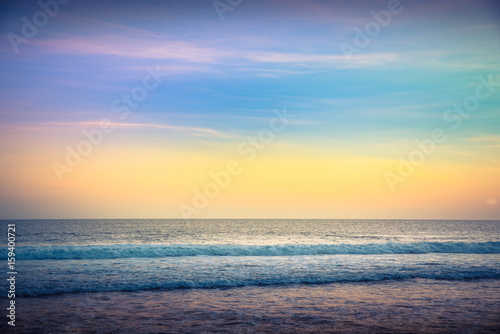 Water Sunset Background  Clear Tropical Island View and