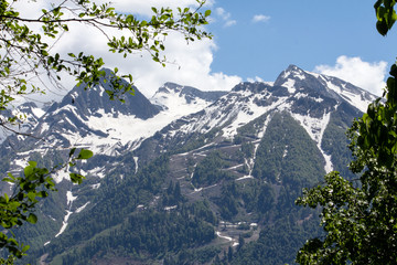 Mountain peaks in the vicinity of the city of Adler