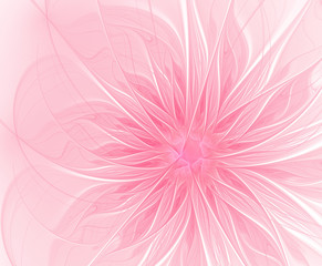 Abstract fractal pink flower