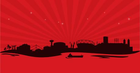Skyline Leverkusen red