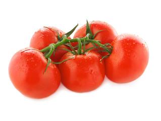 Wet cherry tomatoes